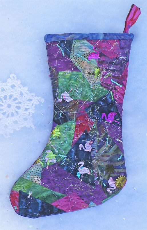 "DIY Fabric ""Trash"" Holiday Stocking"