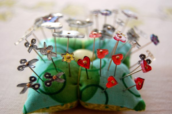 DIY Shrink Plastic Sewing Pins