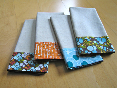 DIY Color Block Fabric Napkins
