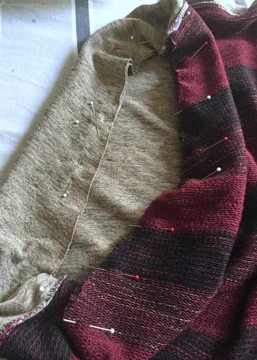 match seams, sew in circle