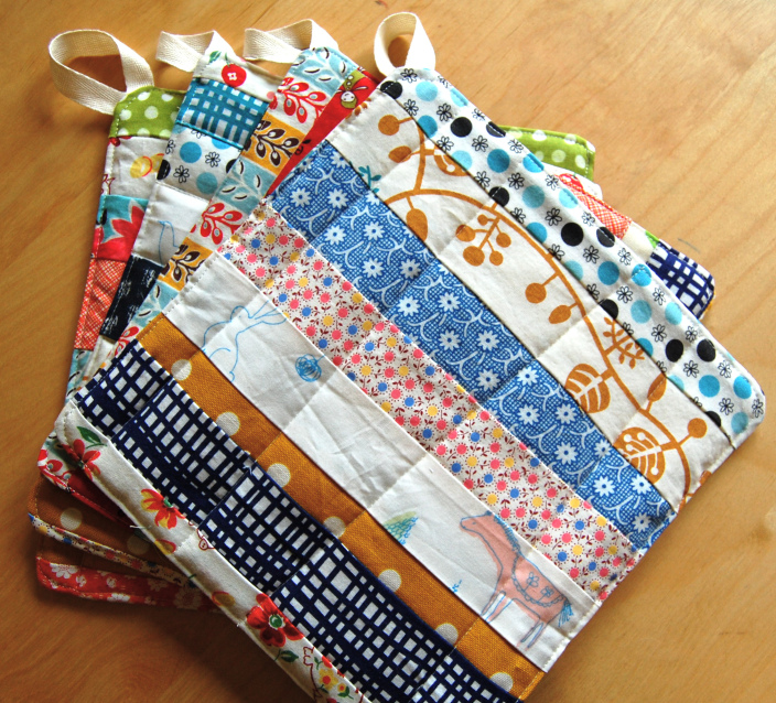 DIY scrap pot holders