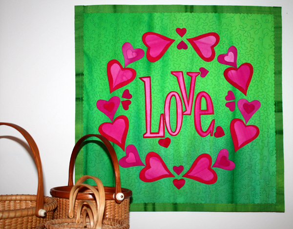 DIY Love mini-quilt