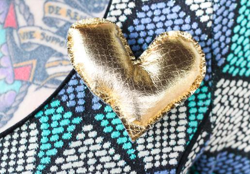 DIY Valentine's Day Heart Brooch