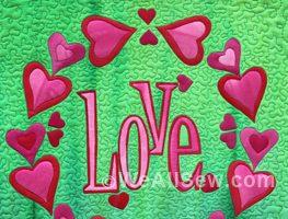 DIY Love mini-quilt