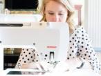 Melissa Mortenson sewing on a BERNINA 710