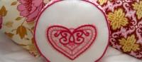 DIY lacy heart pillow
