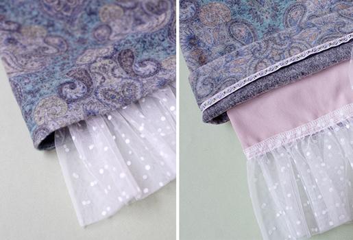 shirred bottom skirt ruffle