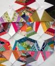 Spiderweb quilt block from Sarah Nishiura's QuiltCon class