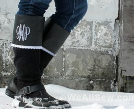 Embroidered Boot Cuffs