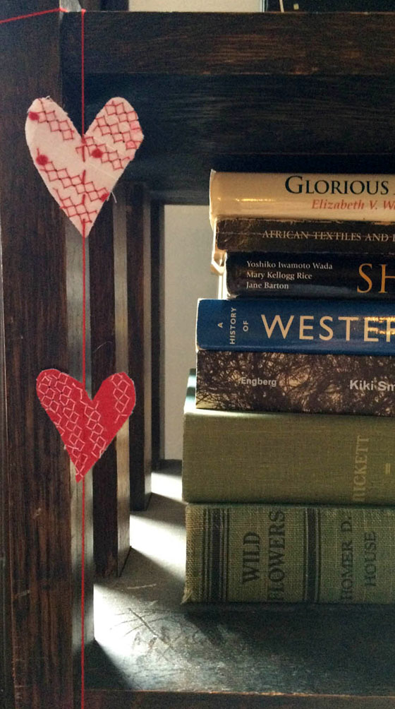 DIY easy heart garland