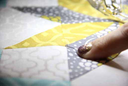 Placing a Center Pin in Quilt