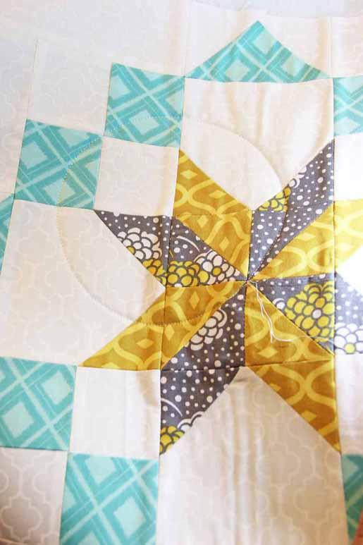 circle quilt thread cutting