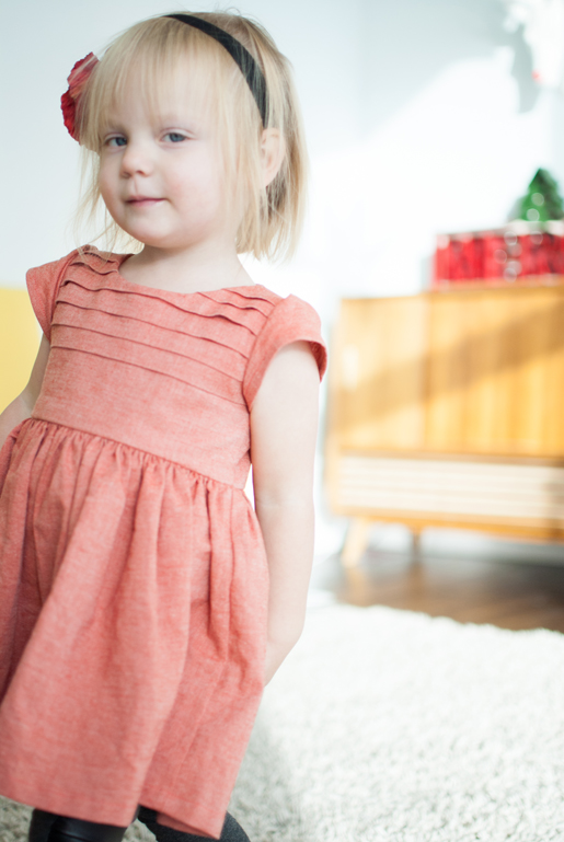 dress with pleated bodice