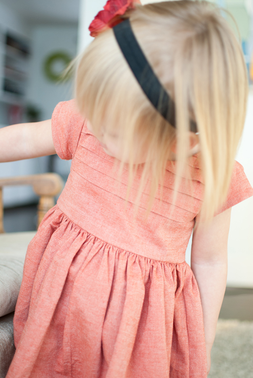 pleated bodice dress