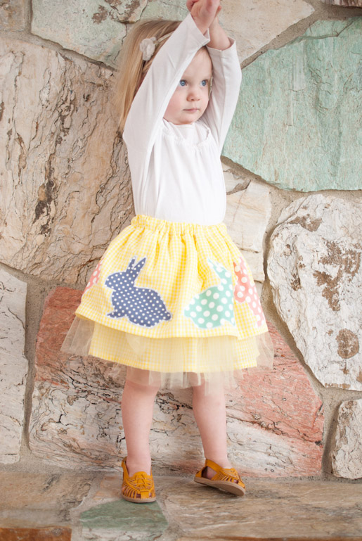 DIY Girl Easter Skirt