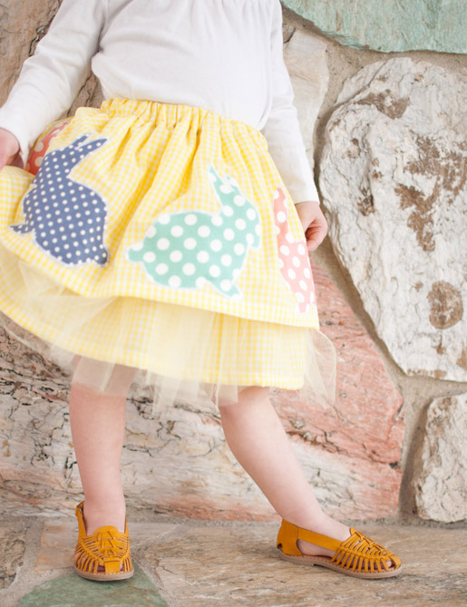 Easter skirt tutorial