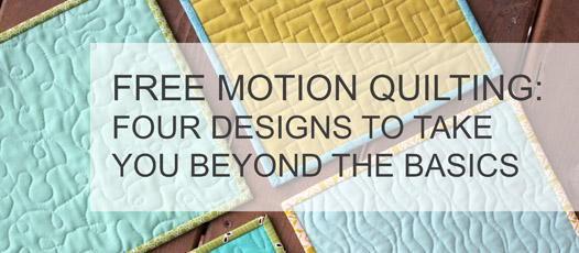 Free Motion Quilting tip series