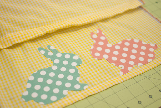 Bunny skirt applique