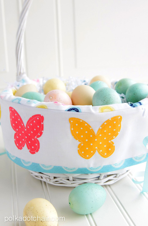 Free Easter basket sewing project