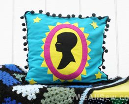 DIY Silhouette Applique Pillow
