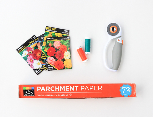 Supplies for custom seed packets