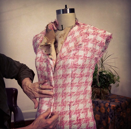 Constructing the body of the Classic Chanel Inspired French Jacket
