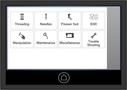 BERNINA Q Series Maintenance Interface