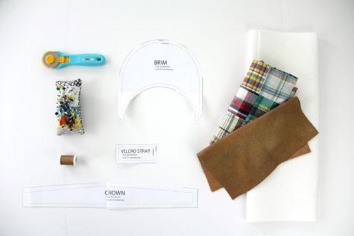 BERNINA Men's Visor Project Materials