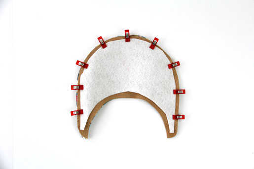 BERNINA Visor Project Pin Brim Pieces Step 3
