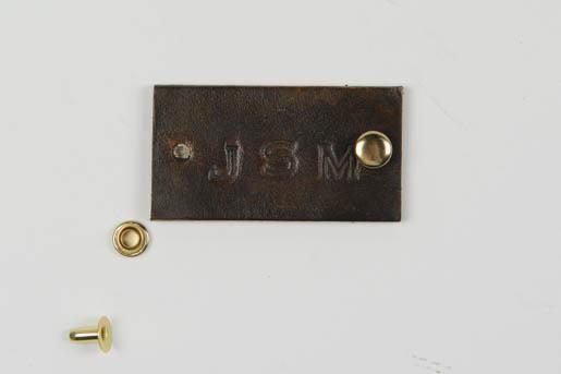 BERNINA Wool-iPad-Case-Leather Plaque