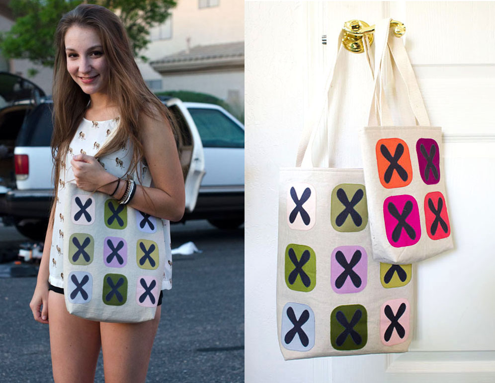 How to make a big or little modern tote bag