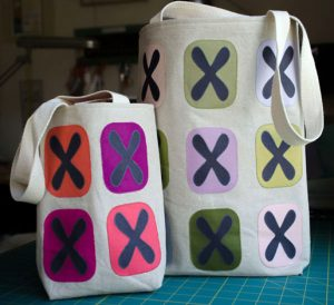 How to make a modern tote bag in two sizes