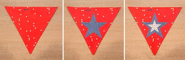 BERNINA 4th of July Bunting Tutorial Placing Stars