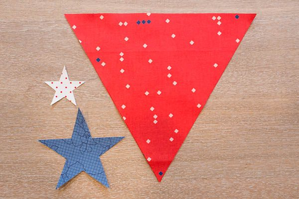 BERNINA 4th of July Bunting Tutorial Step 6