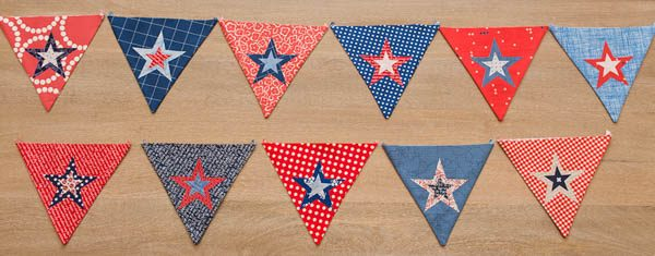 BERNINA 4th of July Bunting Tutorial Placing Star