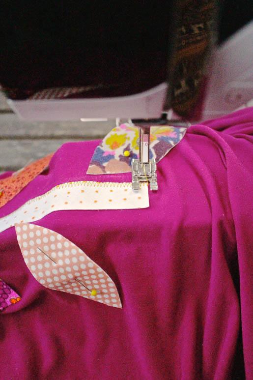 BERNINA Applique Dress Tutorial Step 8 Sewing