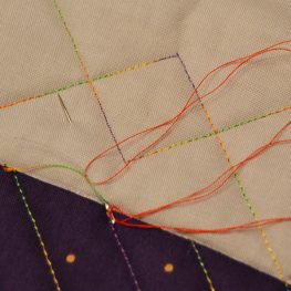 How to Burry Thread Ends on a Quilting Project