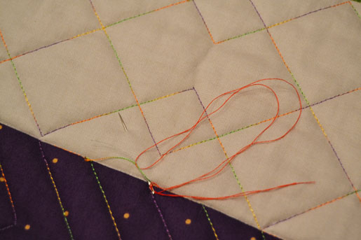 How to Bury Your Thread Ends on a Quilting Project_Needle