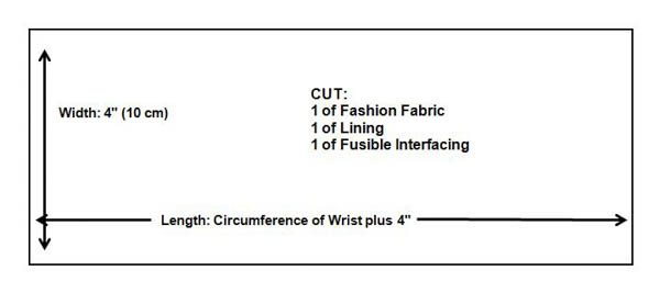 How to Create a Cuff Bracelet Pattern Size