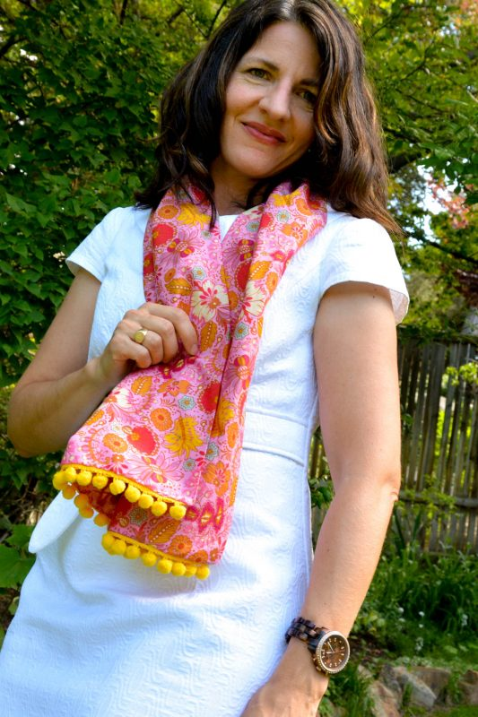 PomPom Scarf Sewing Tutorial-Finished 3