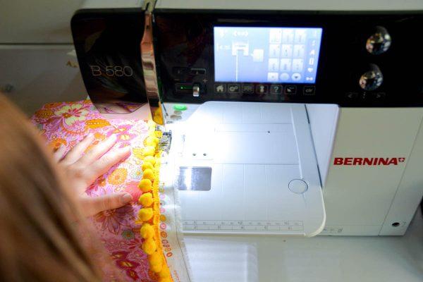PomPom Scarf Sewing Tutorial-Basting