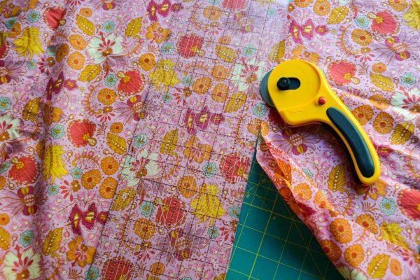PomPom Scarf Sewing Tutorial Cutting