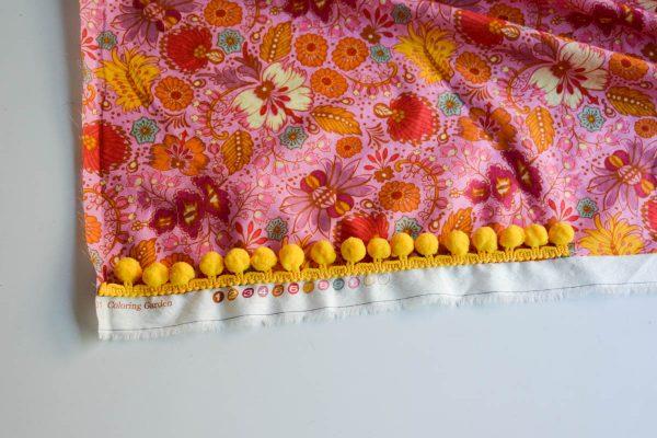PomPom Scarf Sewing Tutorial folding