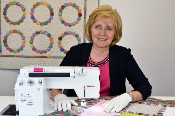 BERNINA Brand Ambassador Renae Allen sews on a BERNINA