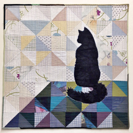 Learn how to make a simple cat applique quilt with artist Luke Haynes