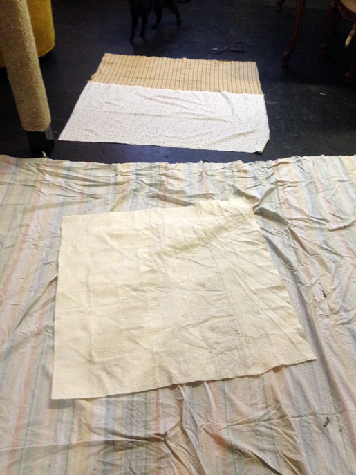 Use temporary adhesive to baste quilt backing