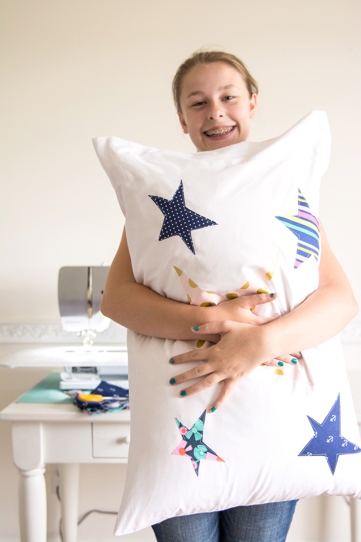 Sewing Project Fabric Basket Tutorial: Summer Pillow Sewing Project For Kids