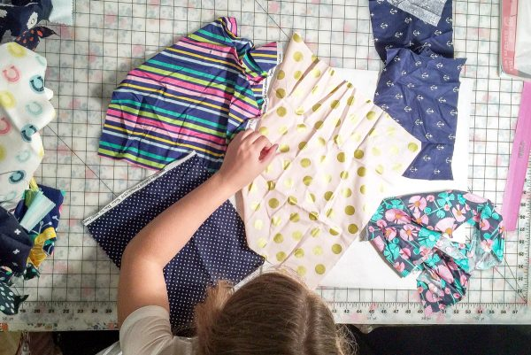 Summer Pillow Sewing Project for kids, helps to teach them basic sewing skills!