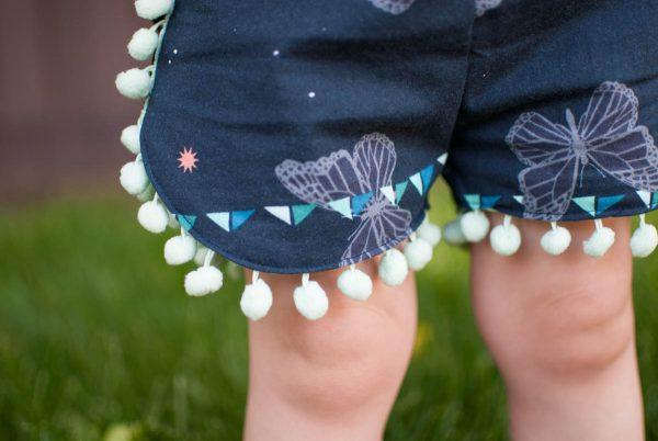 Curved Shorts Tutorial with Pom-Pom Trim