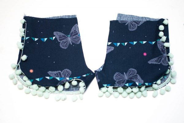 Curved Shorts Tutorial, step 6, repeat for the second leg